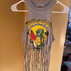 3/$25 sale! LF furst of a kind fringe top